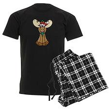 Cute Christmas Moose Pajamas
