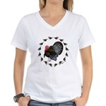 Turkey Circle Women's V-Neck T-Shirt