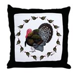 Turkey Circle Throw Pillow