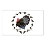 Turkey Circle Sticker (Rectangle 50 pk)