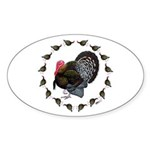 Turkey Circle Sticker (Oval)