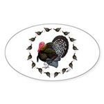 Turkey Circle Sticker (Oval 50 pk)