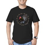 Turkey Circle Men's Fitted T-Shirt (dark)