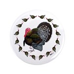"Turkey Circle 3.5"" Button (100 pack)"