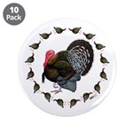 "Turkey Circle 3.5"" Button (10 pack)"