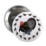 "Turkey Circle 2.25"" Button (100 pack)"