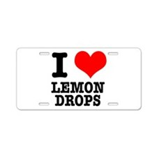 I Heart (Love) Lemon Drops Aluminum License Plate