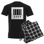 Loco Barcode Design Men's Dark Pajamas