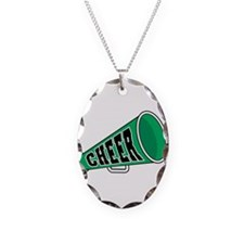 Green Cheer Megaphone Necklace