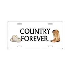 Country Forever Aluminum License Plate