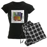 Old School Floppy Disk Women's Dark Pajamas