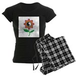 Retro Yin Yang Flower Women's Dark Pajamas