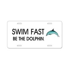 TOP Swim Slogan Aluminum License Plate