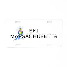 TOP Ski Massachusetts Aluminum License Plate