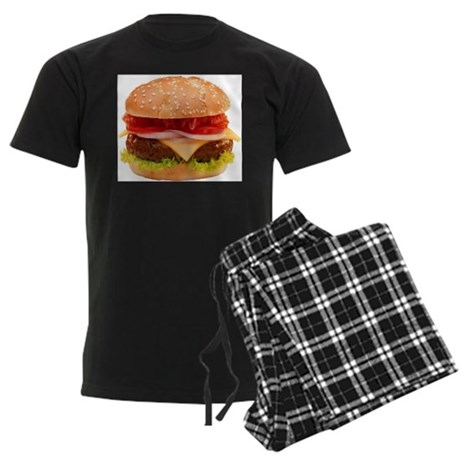 yummy cheeseburger photo Men's Dark Pajamas