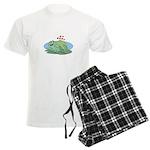 Frogs in Love Men's Light Pajamas