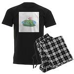 Frogs in Love Men's Dark Pajamas