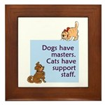 Dogs vs. Cats Framed Tile