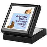 Dogs vs. Cats Keepsake Box