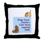 Dogs vs. Cats Throw Pillow