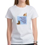 Dogs vs. Cats Women's T-Shirt