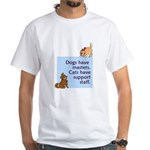 Dogs vs. Cats White T-Shirt