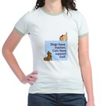 Dogs vs. Cats Jr. Ringer T-Shirt