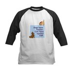 Dogs vs. Cats Kids Baseball Jersey