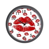 Cute Lips Wall Clock