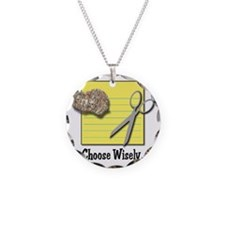 Choose Wisely (Rock Paper Sci Necklace