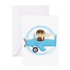 Boy Pilot Greeting Card