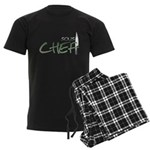 Green Sous Chef Men's Dark Pajamas
