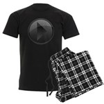 Play Button Men's Dark Pajamas