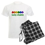 Rainbow Shamrock Lucky Charms Men's Light Pajamas