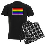 Rainbow Pride Flag Men's Dark Pajamas