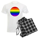 Round Pride Flag Men's Light Pajamas