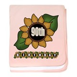 90th Birthday baby blanket