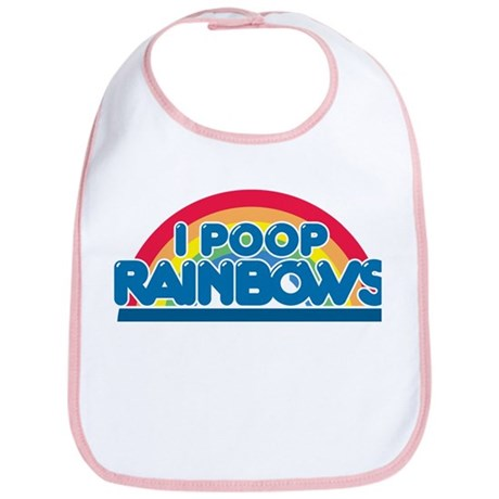 I Poop Rainbows Bib