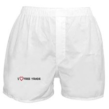 I Love Free Trade Boxer Shorts