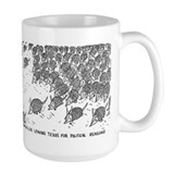 Armadillos leaving Texas Coffee Mug