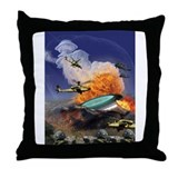 UFO Crash Throw Pillow