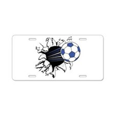 Soccer Breakthrough Aluminum License Plate