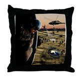 UFO Retrieval Throw Pillow