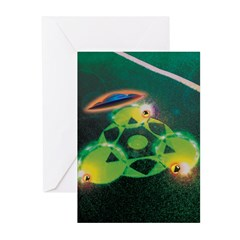 UFOs and Crop Circles Greeting Cards (Pk of 10)