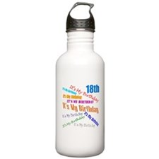 18th Birthday Water Bottle