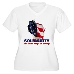 Solidarity - Union - Recall W Women's Plus Size V-