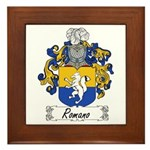 Romano Coat of Arms Framed Tile