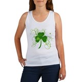 Cool St Patricks Day Shamrock Women's Tank Top