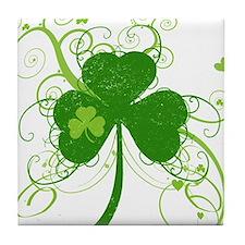 Cool St Patricks Day Shamrock Tile Coaster