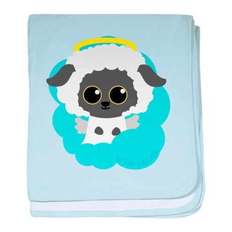 """lamb angel"" baby blanket"